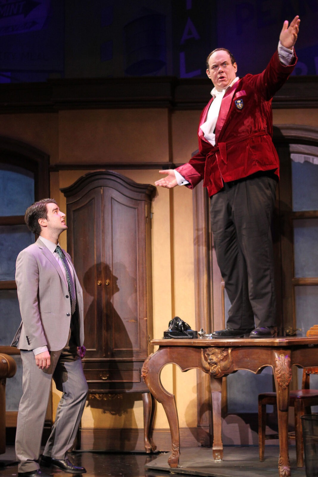 Richard Lafleur as Bloom and David Johnson as Bialystock in THE PRODUCERS