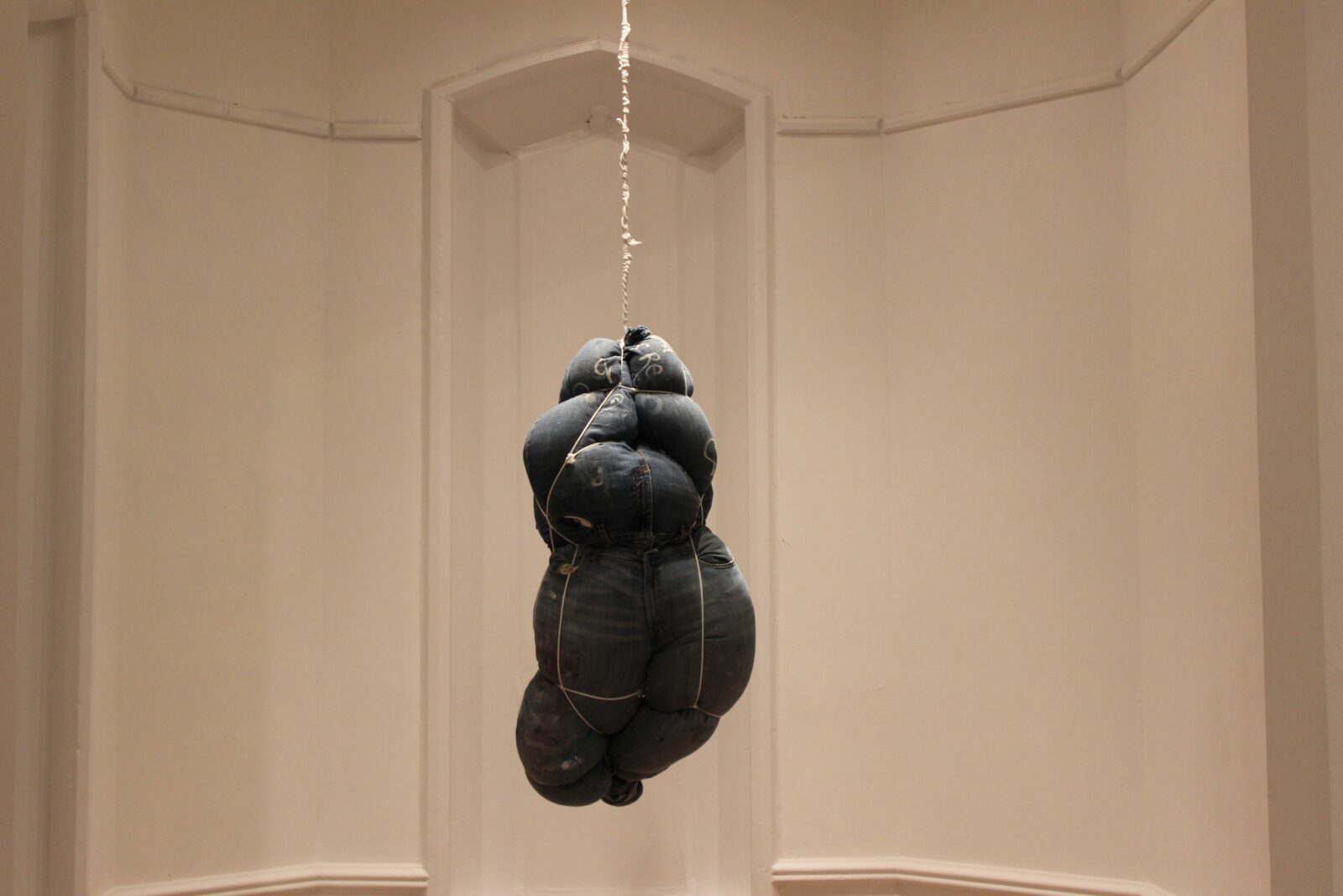 Shinique Smith-Soul Elsewhere-Artist's Clothing, Fiber-fill, and Rope(2)